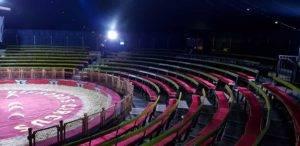 circus seating in large arena